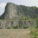 Hegyestű lebányászott bazaltkúpja